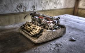 Картинка фон, комната, пишущая машинка