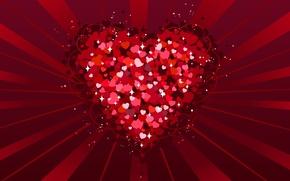 Картинка любовь, красный, сердце, День святого Валентина