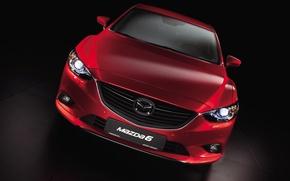 Картинка red, sedan, Mazda-6