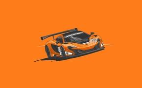 Картинка McLaren, GTR, Orange, Car, Front, Minimalistic