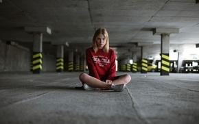 Картинка девушка, coca-cola, Киев, паркинг