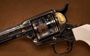 Картинка украшение, револьвер, барабан, кольт