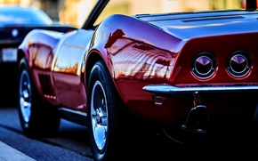Картинка Corvette, Chevrolet, Шевроле, Корвет, Стингрей, задний фон, Backwave, Stingrey