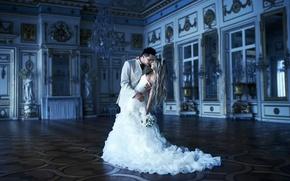 Картинка невеста, дворец, свадьба, жених
