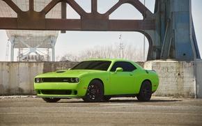 Картинка Dodge, Challenger, Green, Hellcat, SRT