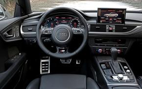 Картинка машина, Audi, Ауди, салон
