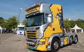 Обои Truck, Scania, Тягач, Грузовик, Скания, Tuning, Тюнинг