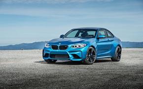 Картинка бмв, купе, BMW, синяя, Coupe, F87