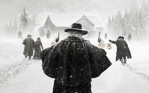 Картинка Winter, Snow, Men, Woman, Kurt Russell, SHERIFF, Movie, Film, Quentin Tarantino, Pistols, 2015, Samuel L. …