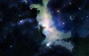 Обои вселенная, тьма, космос