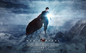 Картинка superman, Clark Kent, Man of Steel, Henry Cavill, superman 2013