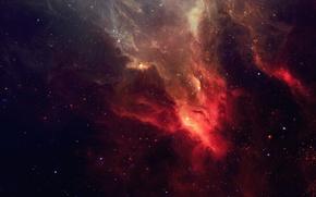 Картинка космос, звезды, туманность, арт, TylerCreatesWorlds