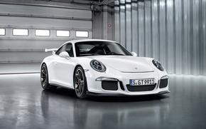 Картинка 911, Porsche, white, GT3, 2013