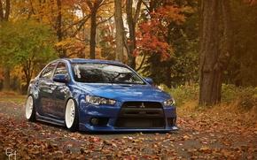 Обои Lancer, Autumn, Evo, Mitsubishi