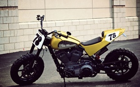 Картинка Harley Davidson, Motorcycle, Flat Tracker