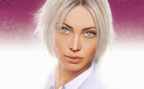 Обои взгляд, портрет, блондинка