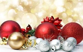 Обои украшения, игрушки, шарики, праздник