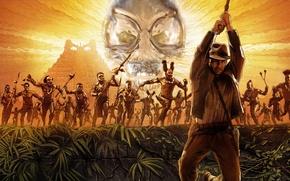 Картинка Пирамида, Харрисон Форд, Индиана Джонс и королевство хрустального черепа