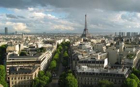 Картинка Франция, Париж, здания, башня