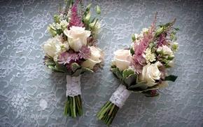 Картинка цветы, розы, букет, композиция