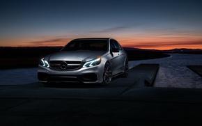Картинка Mercedes-Benz, Car, Carbon, Sunset, Grey, Matte, Motorsport, Sonic, E63, Mode, AMG S