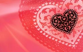 Картинка сердце, red, валентинка, Valentine's Day, Heart, День Св. Валентина, ажурное