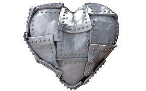 Картинка рендеринг, metal, сердце, heart, steel, железное