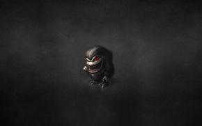 Картинка темный фон, монстр, мохнатый, красные глаза, зубочистка, волосатый, Зубастики, The Critters
