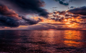 Картинка море, небо, закат