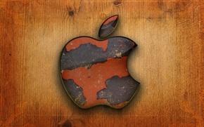 Картинка компьютер, дерево, apple, яблоко, логотип, mac, телефон, ноутбук, эмблема, гаджет