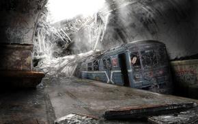 Картинка город, Метро, подземка, заброшенное место