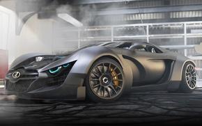 Обои 3D Graphics, Track, Lada, Car, Power, Garage, Future, Next, Front, Concept