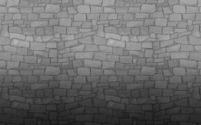 Обои серый, стена, камень, текстура, wall