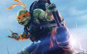 Картинка фэнтези, Michelangelo, Teenage Mutant Ninja Turtles: Out of the Shadows, Черепашки-ниндзя 2