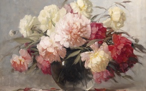 Картинка цветы, букет, пионы, Adrienne Deak
