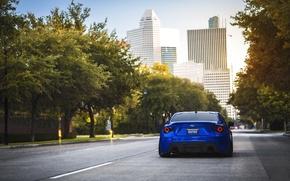 Картинка город, Subaru, спорткар, синяя, blue, субару, brz, брз