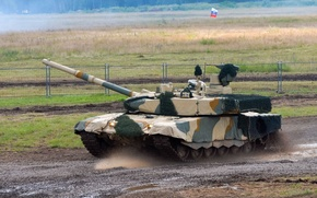 Картинка танк, Россия, Russia, военная техника, tank, Т-90 МС, УВЗ