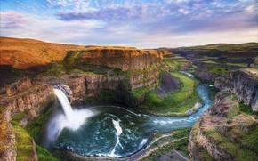 Картинка красота, горы, природа, водопад, пейзаж, beautiful, лепота