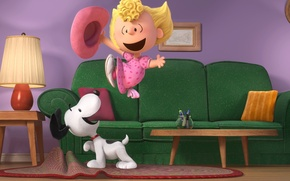 Картинка Beagle, Snoopy, The Peanuts, Woodstock