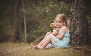 Картинка настроение, игрушка, девочка