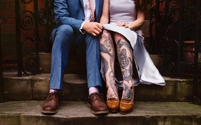 Обои тату, татуировки, люди, ноги