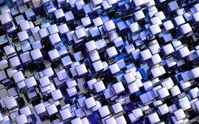 Обои мозаика, кубики, текстура