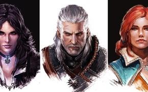 Обои Трисс Меригольд, девушки, медальон, The Witcher 3: Wild Hunt, Ведьмак 3: Дикая Охота, Йеннифэр из ...