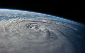 Картинка космос, земля, планета, тайфун Халонг