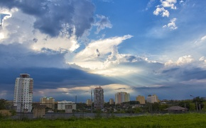Картинка облака, небеса, минск, после грозы, курасовщина