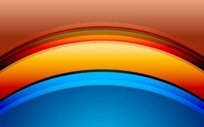 Обои свет, цвет, объем, радуга, краски, дуга
