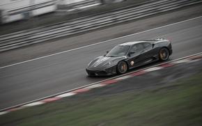 Картинка скорость, трек, ferrari f430