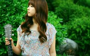 Картинка Girl, Nature, Asian, Guitar, Beauty, Kpop, Singer, Korean, Juniel