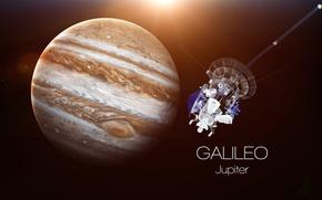 Обои saturn, satellite, Galileo