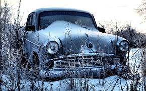Картинка снег, москвич, 407